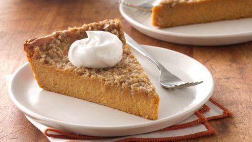 Crustless Sugar-Free Pumpkin Pie: