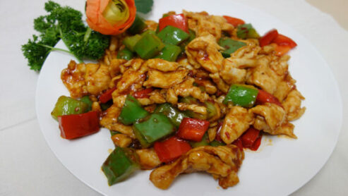 Fat and Tasty Rainbow Chicken Chinese Food