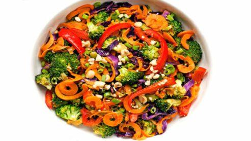 Rainbow Vegetable Stir-Fry: